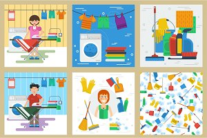 Six concept for cleaning service