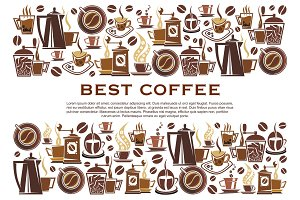 Best coffee cafeteria vector poster