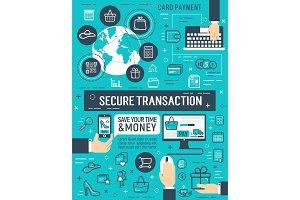 Secure online money transaction