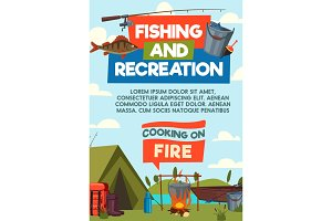 Fishing and recreaton poster