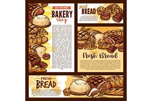 Bread and bakery banners