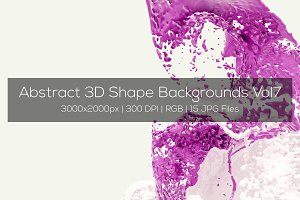 Abstract 3D Shape Backgrounds Vol7