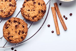 Oatmeal chocolate chip cookies with