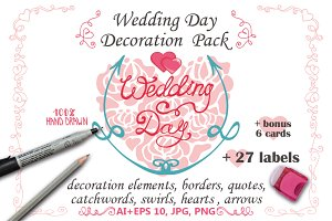 Wedding Decor elements,lettering 01