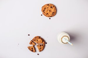 Background with chocolate chip cooki