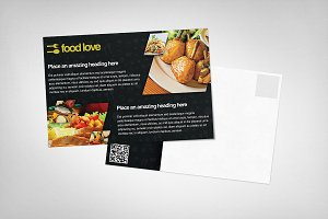 [50% OFF] Food Love Postcard