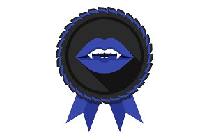 best vampire award badge blue woman