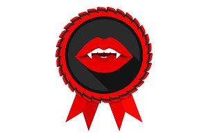 best vampire award badge red woman