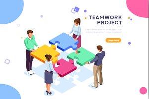 Teamwork Project Illustration