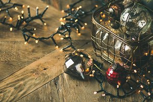Christmas decoration balls in box