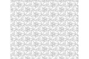 Floral Fine Seamless Vector Grey