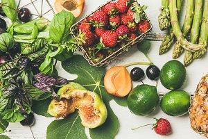 Seasonal fruit, vegetables and