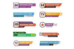 breaking news banners television
