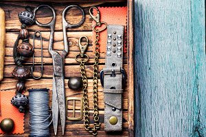 Retro jewelry and retro tools