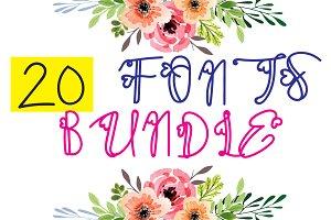 Autumn Fonts Bundle - 20 deco fonts