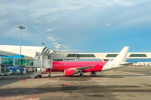 Airplane gangway Kuala Lumpur