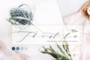 THISTLE BLUE. MOCKUPS BUNDLE.