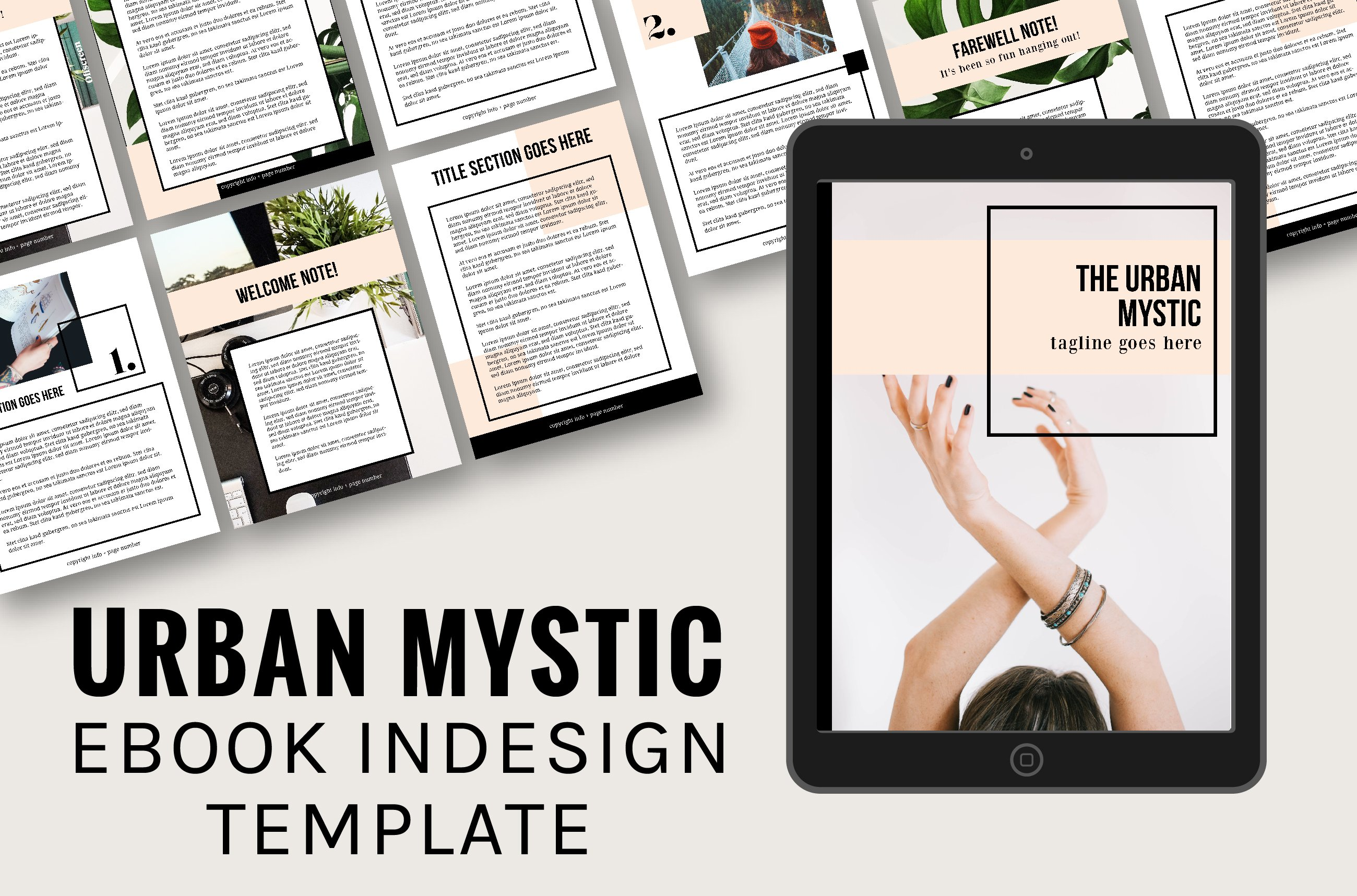 urban mystic ebook indesign template love color.html