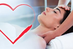 Massage on woman with love heart