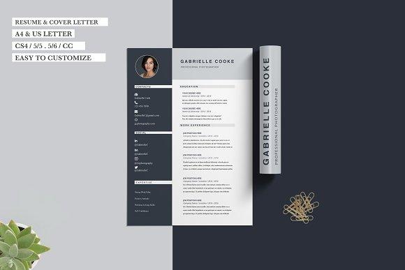 resume cv template gabrielle cooke resume templates creative