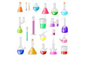 Test-tube flask vector chemical