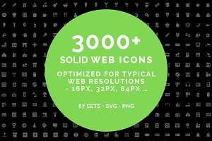 Web solid icons -MEGA BUNDLE- 3000+