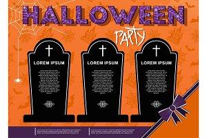 Vector halloween party poster