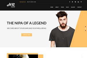 Salon & Hair Styling HTML Template