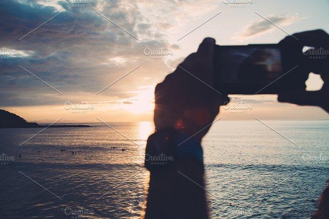 Photographing sunset.jpg - Technology