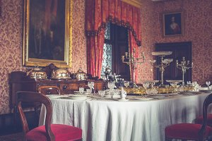 Victorian prepared table