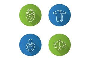 Childcare icons set