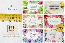 Watercolor floral Bundle