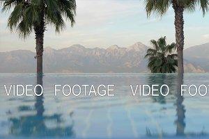 Resort scene with swimming pool