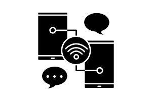 Chatting glyph icon