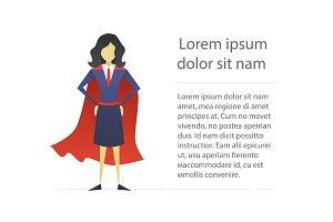 Super woman flat character design