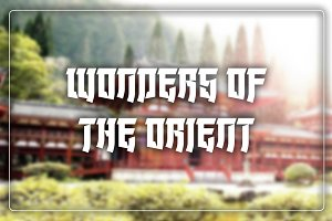 Wonders of the Orient