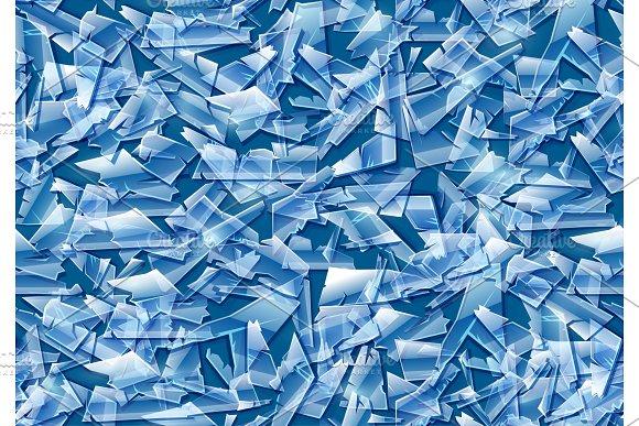Broken glass seamless texture vector