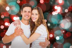 Portrait of happy couple embracing