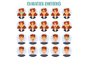 Set of isolated cartoon people