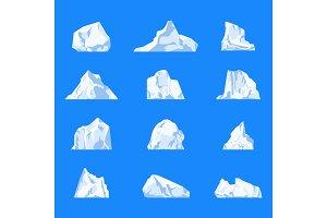 Set of isolated iceberg
