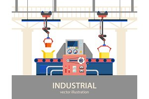 Factory or plant automated line