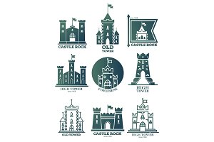 Logo with castle and towers