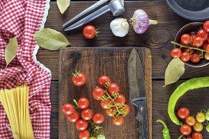 fresh red cherry tomatoes