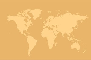 World map cream vector background