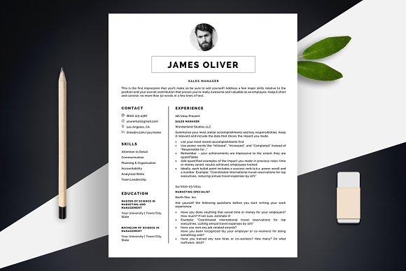 Sharp Resume Template CV + BONUS