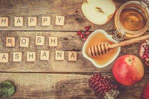 Rosh hashana jewish holiday concept