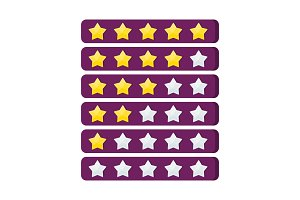 Number of gold rating stars