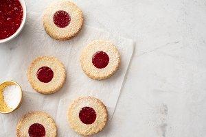 Christmas cookies. Linzer cookies