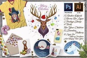 Merry Christmas color kit