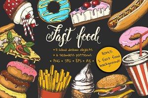 Fast food set.